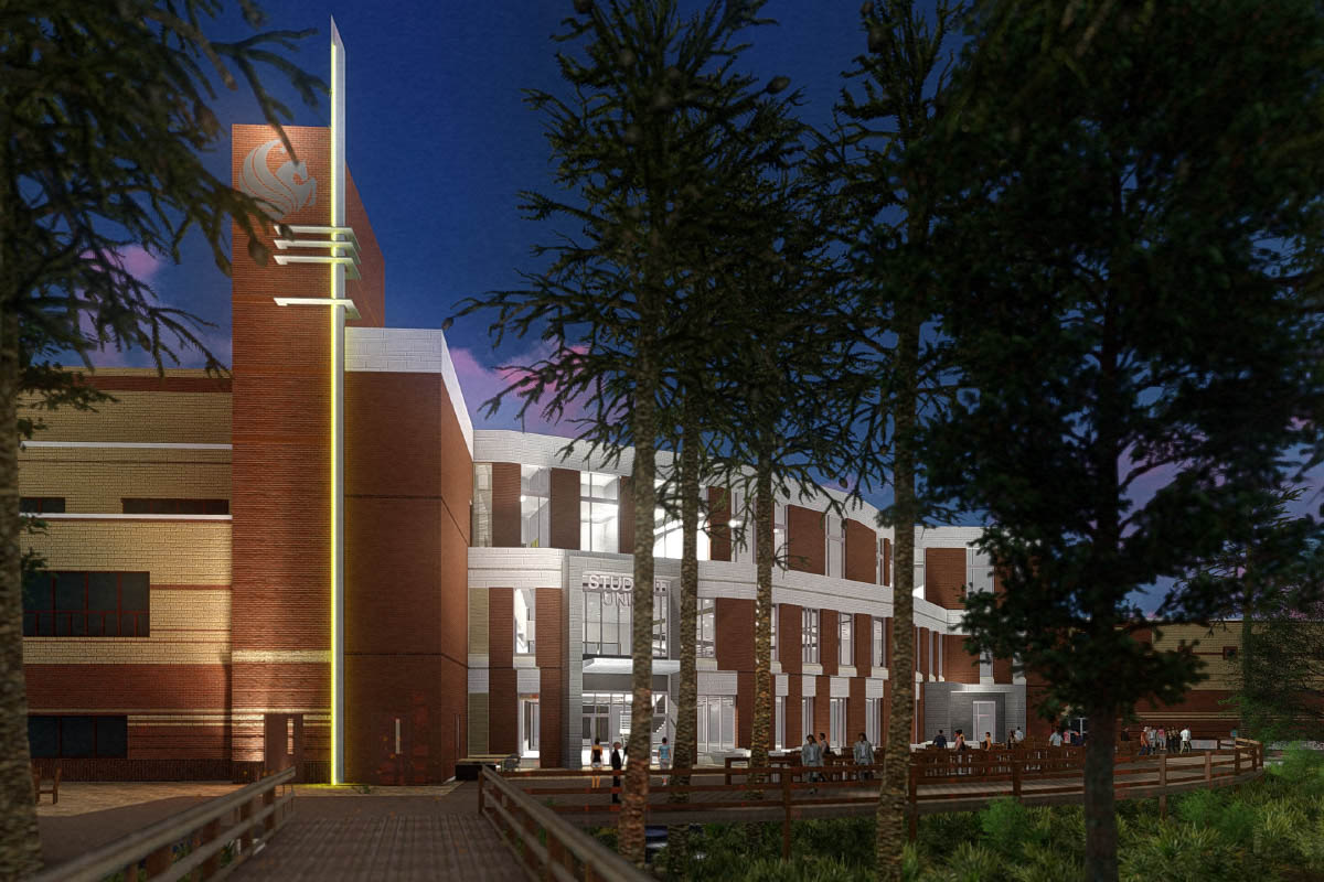 external ucf student union rendering