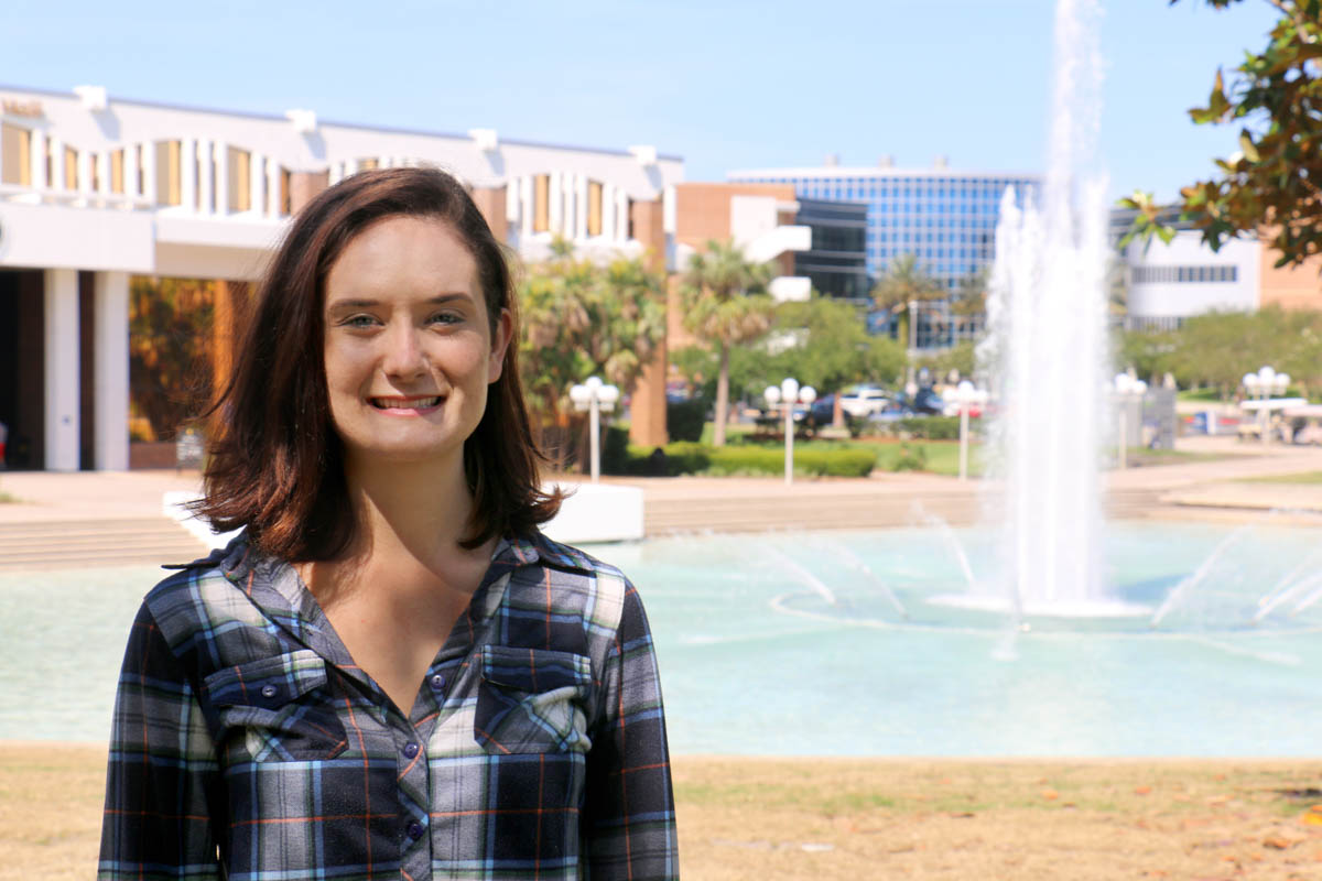 Hanna Reed uses math to understand how diseases develop and spread. (Photo by Allison Hurtado '12)