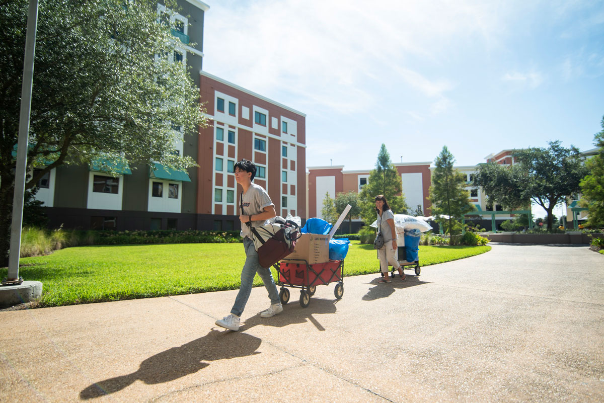 photo of student moving in