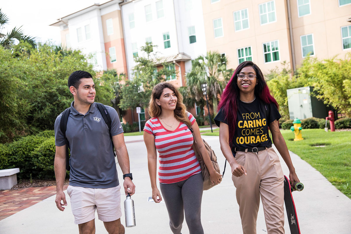Photo of UCF students walking