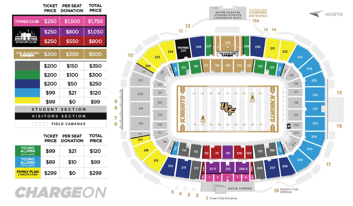 graphic of stadium ticket map