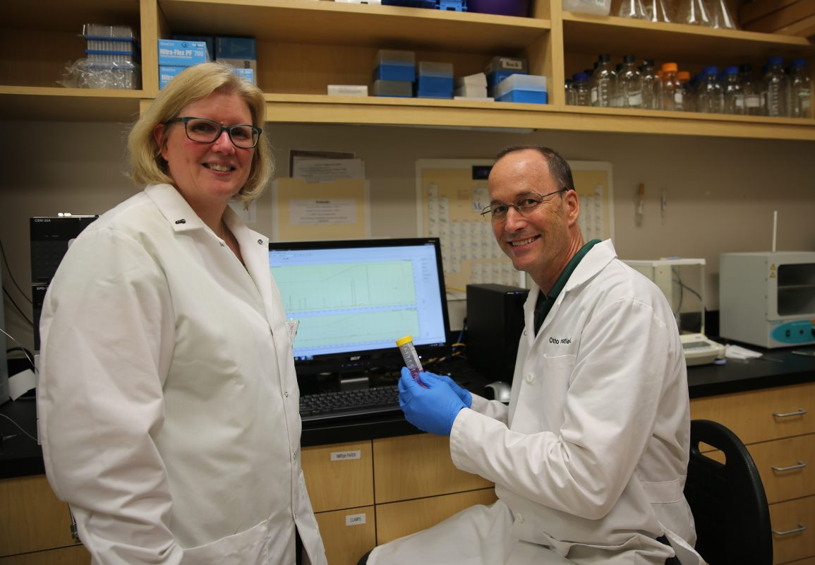 Dr. Deborah Altomare and Dr. Otto Phanstiel at the UCF College of Medicine.