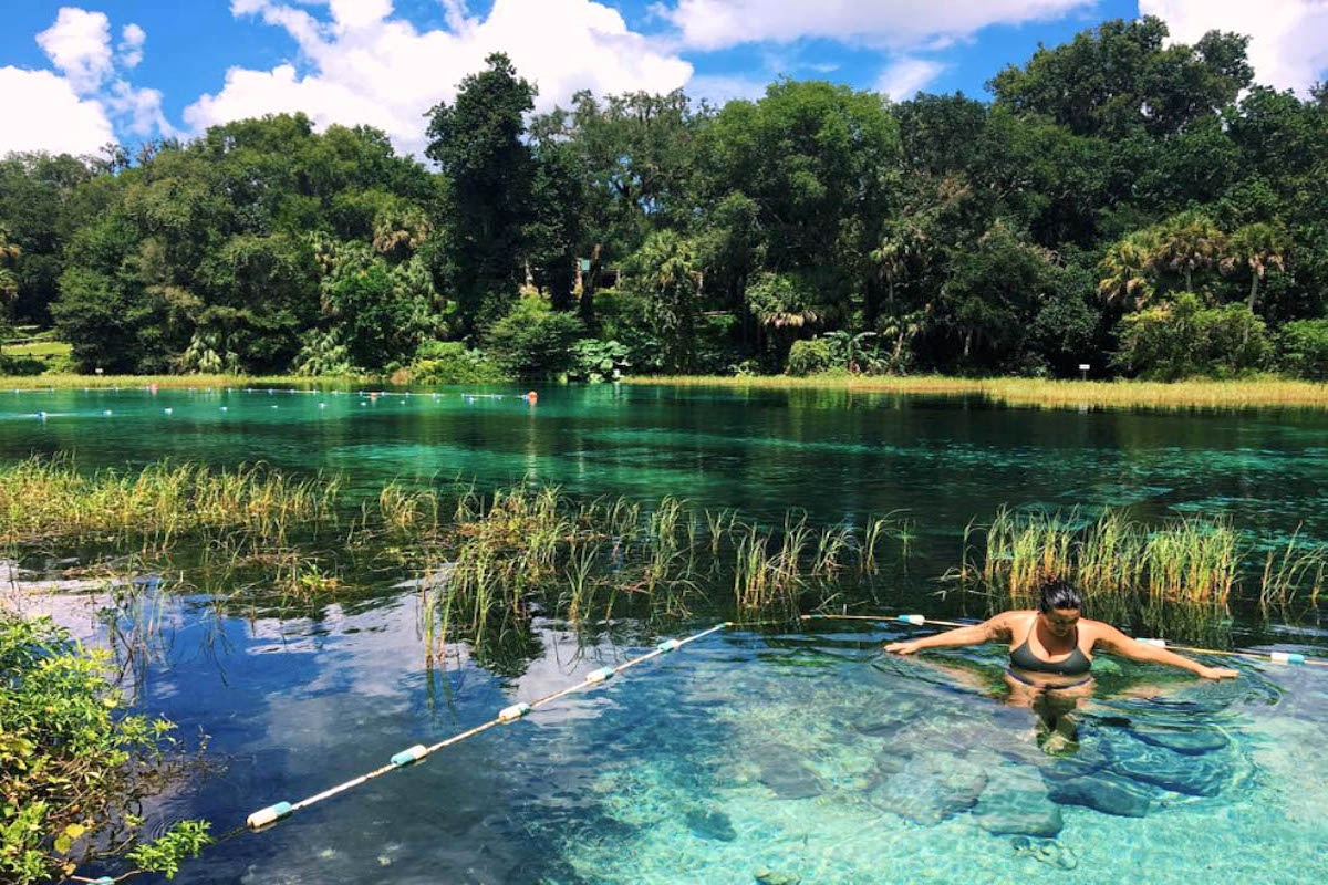 Although it's fall, Florida's warm weather still offers a great opportunity to spend a day cooling off in a natural swimming area. (Photo credit - IG: @gabifrank_)