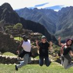 Andrea Bances-Monard, Caterina Vadell and Rondell Thorpe enjoy some sightseeing during their chemistry exchange in Peru.