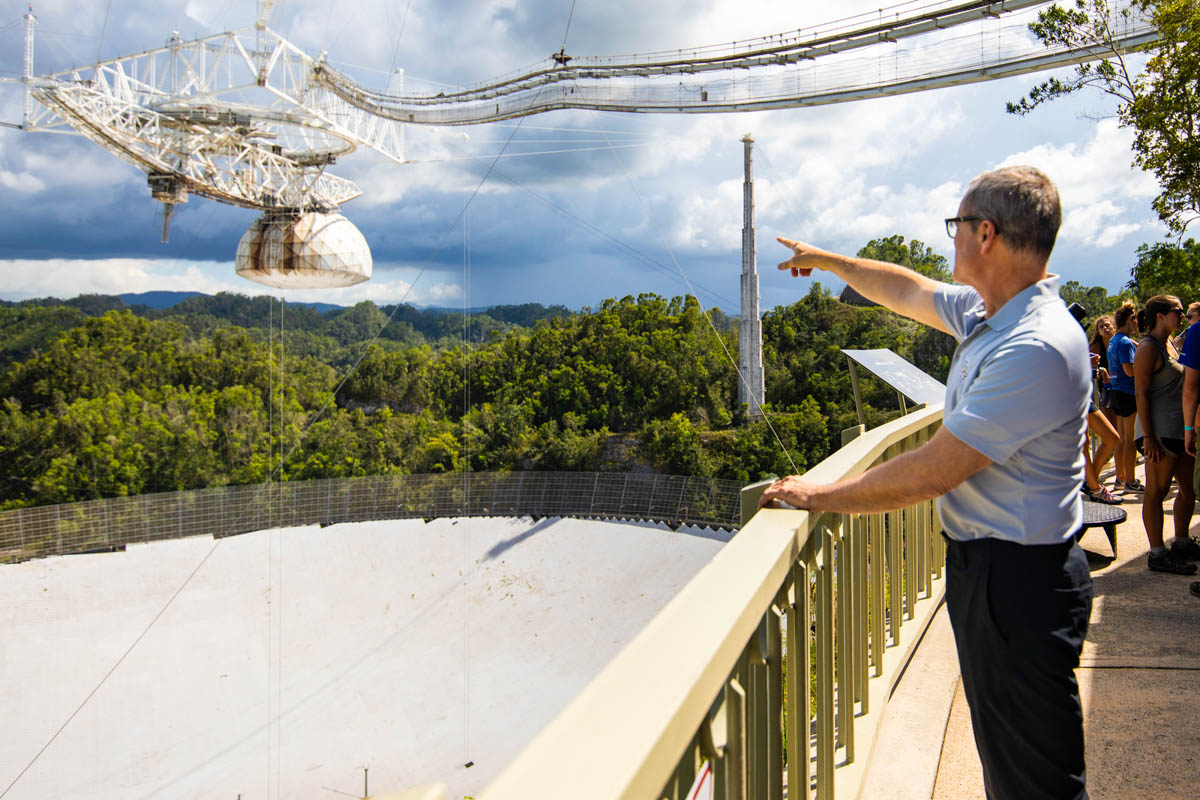 After partnering with two other institutions to manage the Arecibo Observatory earlier this year, UCF President Dale Whittaker traveled to Puerto Rico for a visit to the facility.
