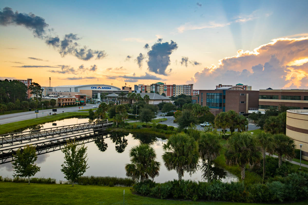 UCF Campus on a quiet morning.