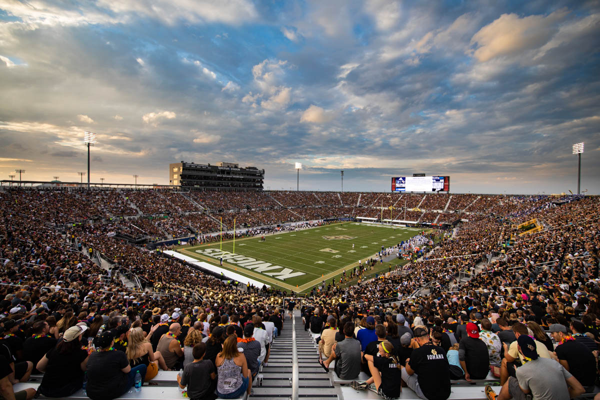 During the American Athletic Conference title game against Memphis, 45,176 fans packed the stands as UCF secured a 56 -41 victory
