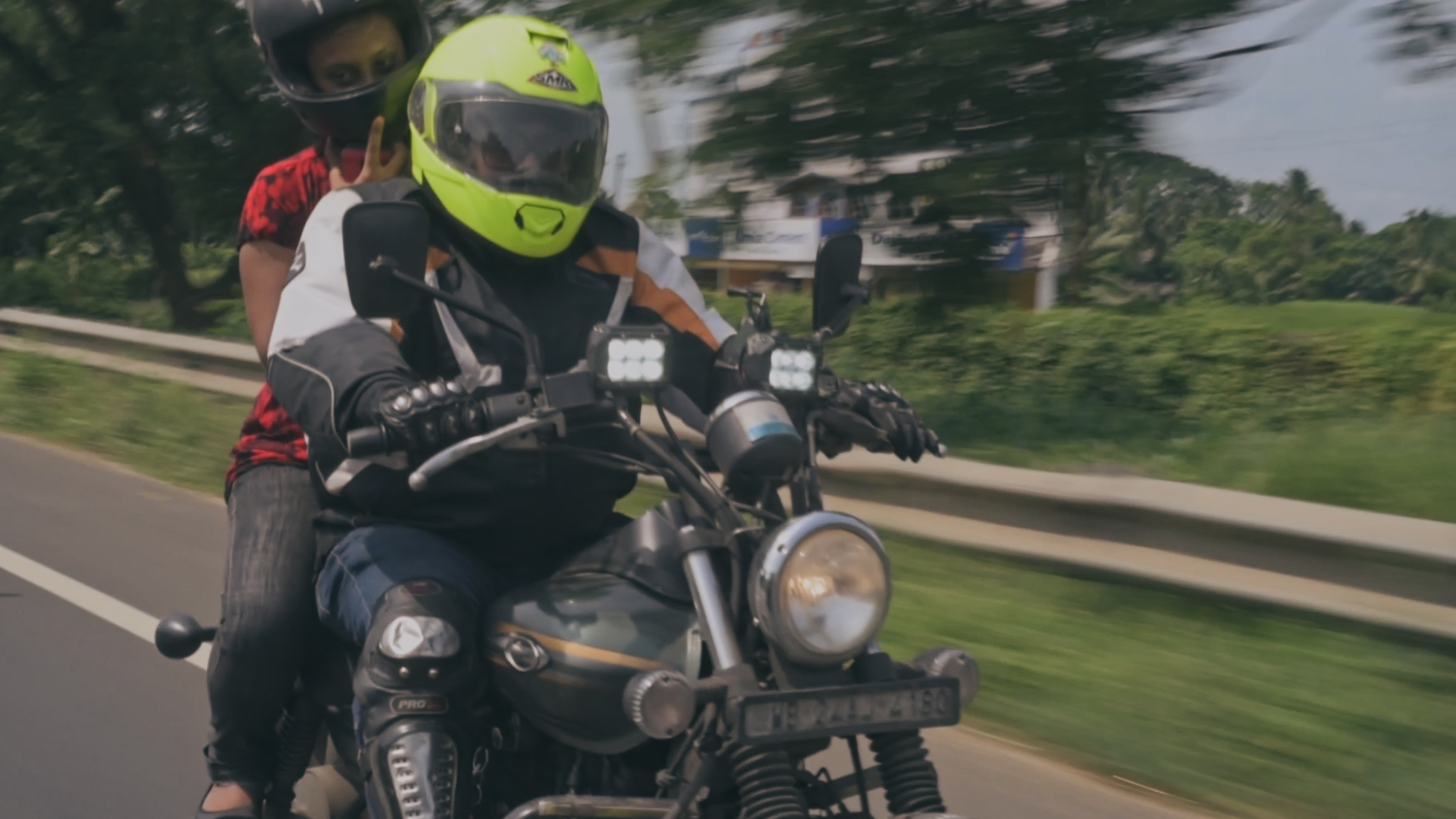 Female motorcyclists in India.