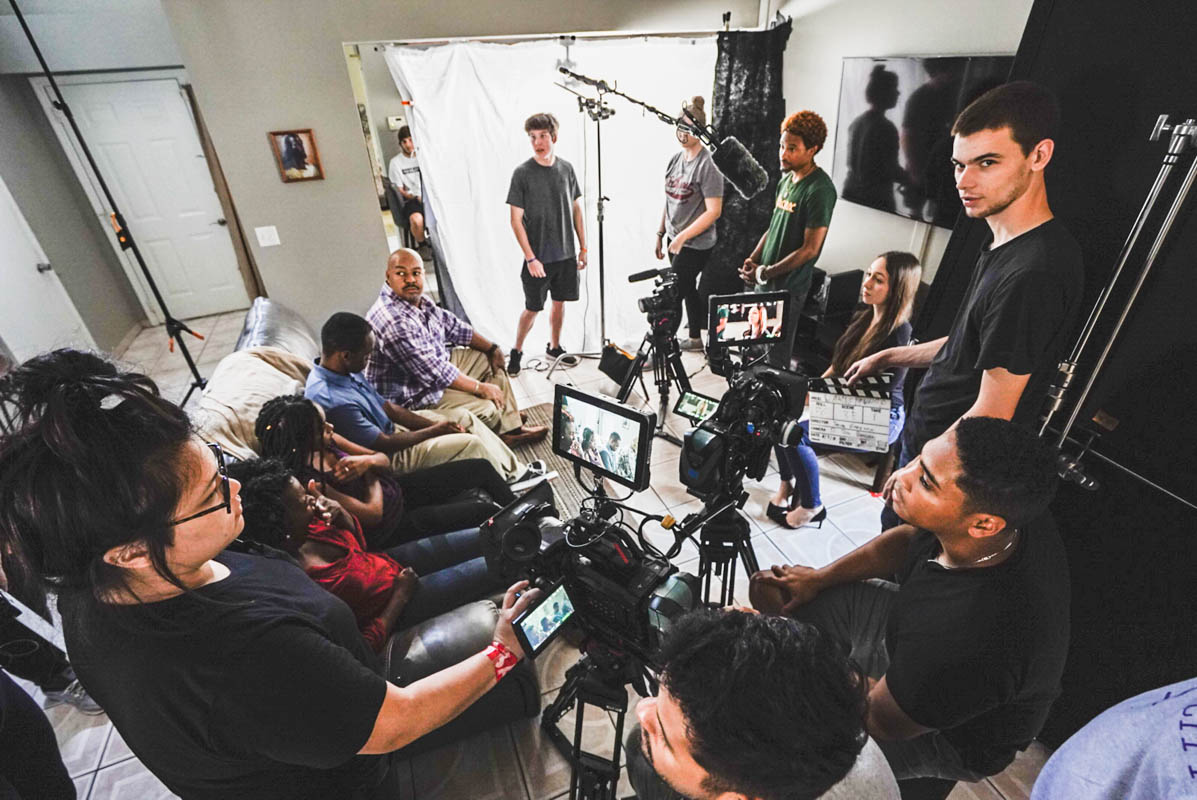 A team of 40 UCF students volunteered their time to help filmmaker Jason Gregory bring his script to life. (Photo courtesy of Jason Gregory)
