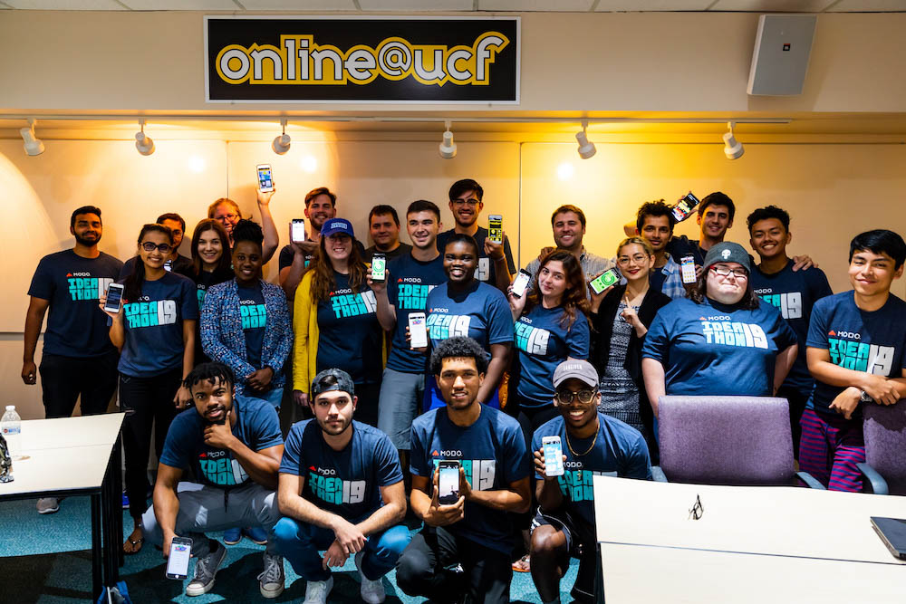 More than 20 students participated in the Ideathon 2019 competition at UCF on April 12 and 13.