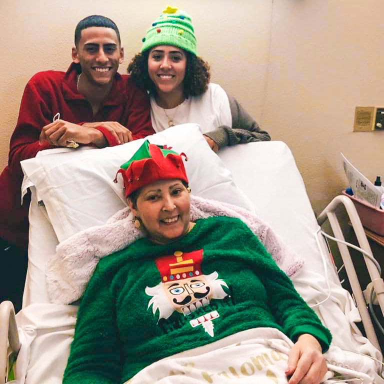 Julian and Julisa Pina stayed by their mother Maribel Ortiz-Pina's side throughout her treatment for breast cancer.