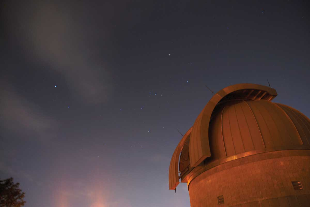 Robinson observatory and night sky