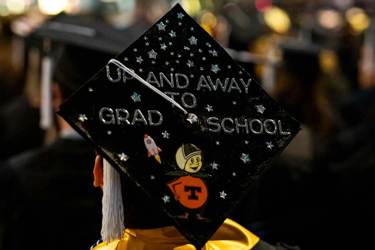 decorated graduation cap: Up and Away to Grad School with Citronaut
