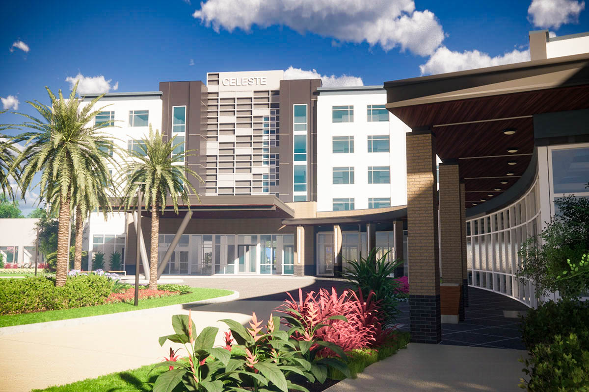 A rendering of The Celeste Hotel at the University of Central Florida