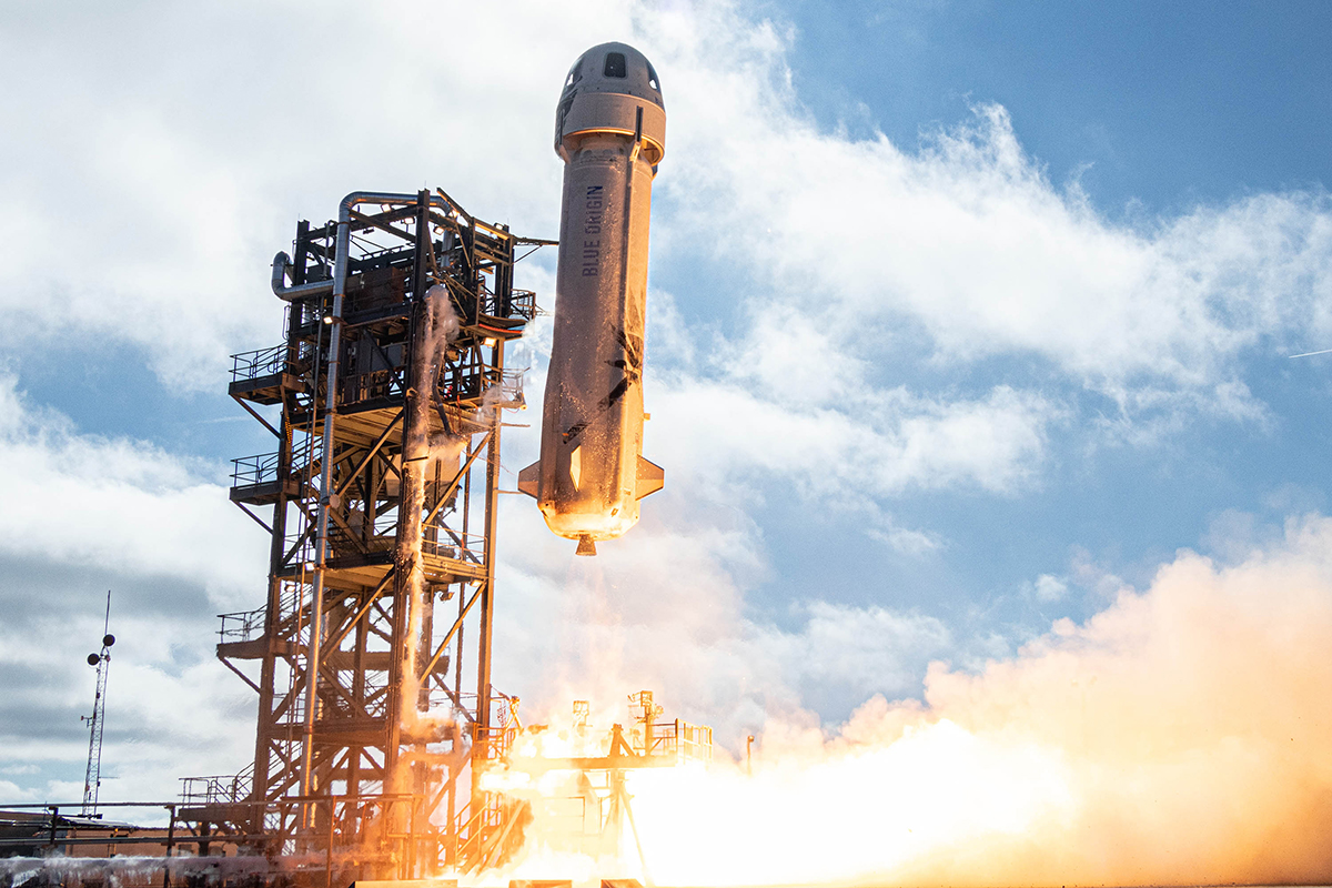 Blue Origin's New Shepard rocket lifts off from West Texas on December 11 2019