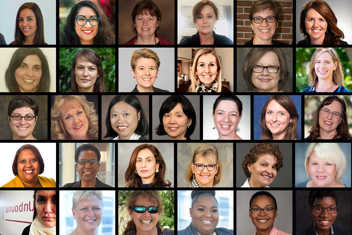 Collage of women faculty from UCF