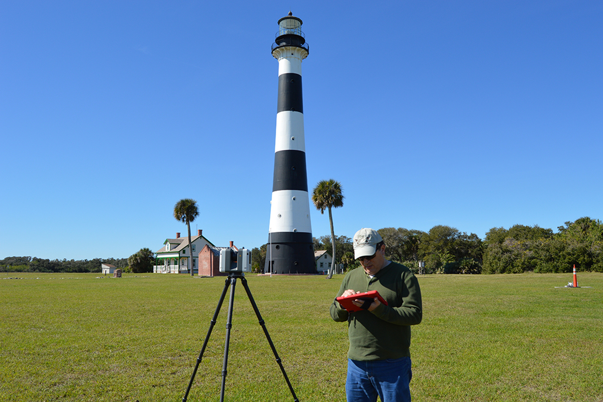 3D laser scanning the Cape Canaveral lighthouse
