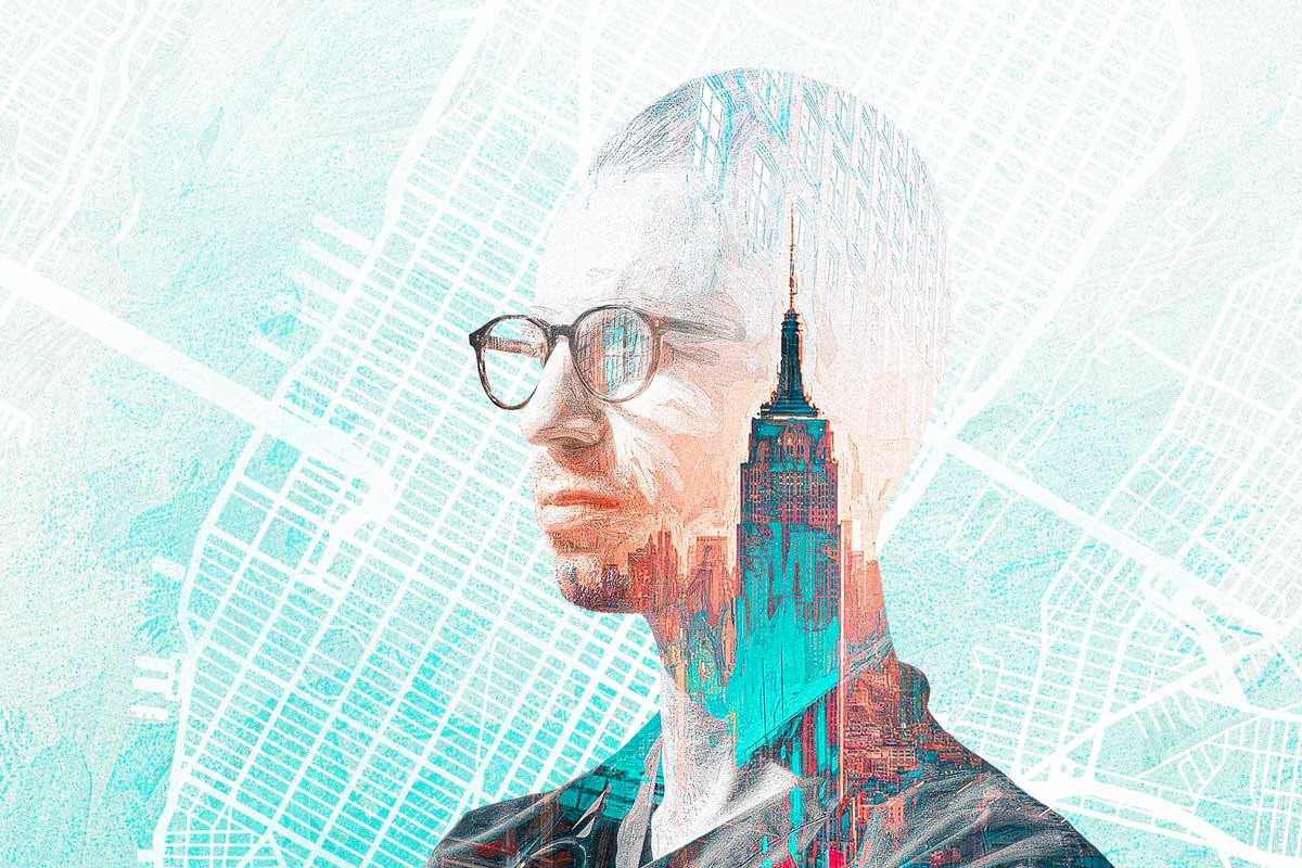 graphic of Anthony King and Empire State Building