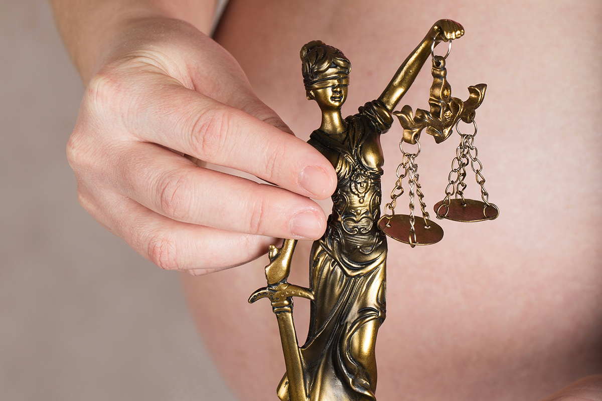 lady justice is pictured