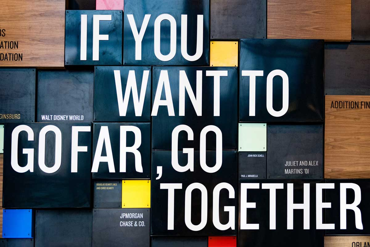 Sign: If you want to go far, go together