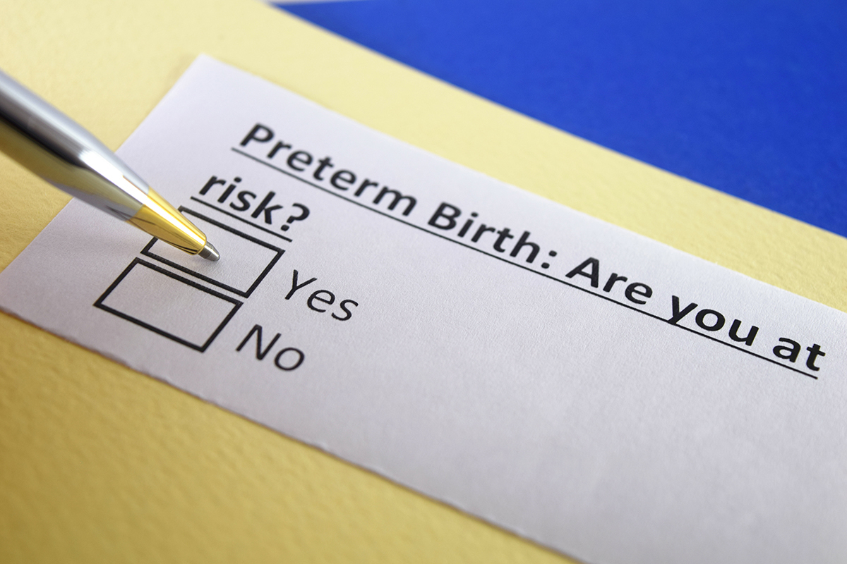 preterm birth risk survey check box