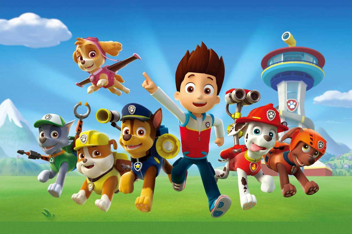 The crew from Paw Patrol