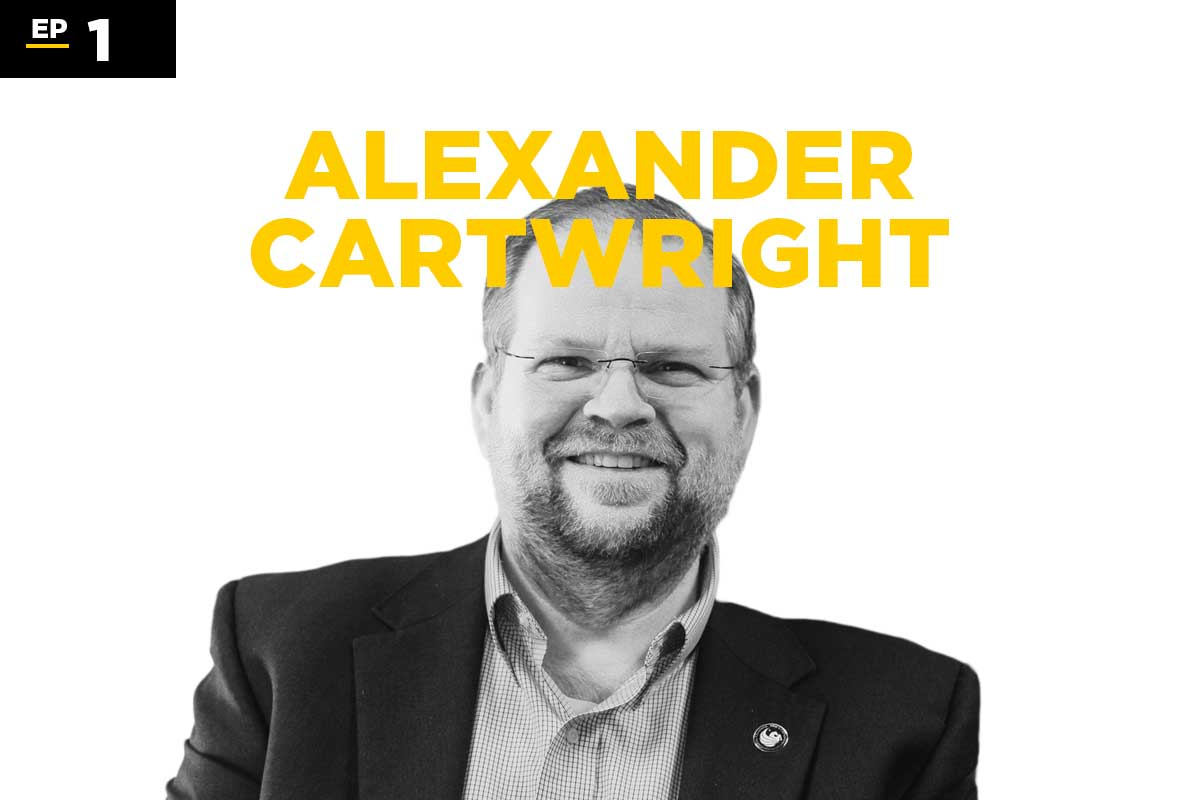 Black and white photo of Alexander Cartwright