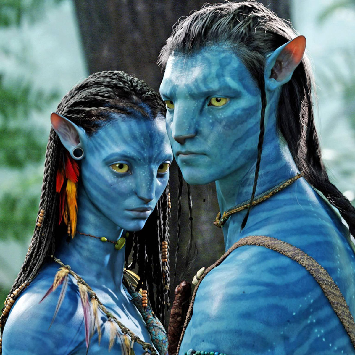 Main characters from the film Avatar