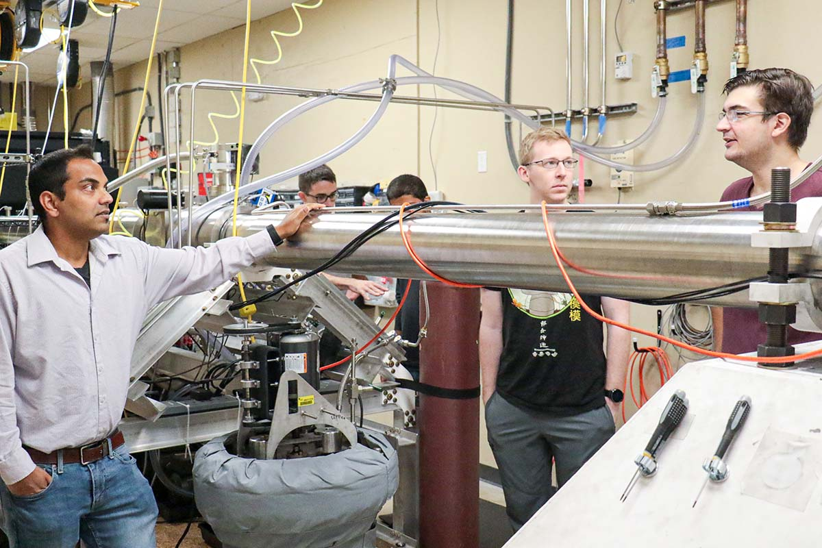 UCF researchers are shown in their lab.