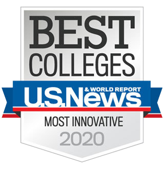 U.S. News and World Report Best Colleges badge - Most Innovative 2020