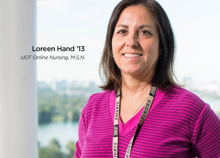 Online Nursing BSN and Masters Degree Graduate Loreen Hand