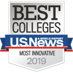 us news & world report 2019 best colleges badge: most innovative