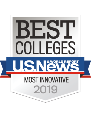 U.S. News and World Report Best Colleges badge - Most Innovative 2019
