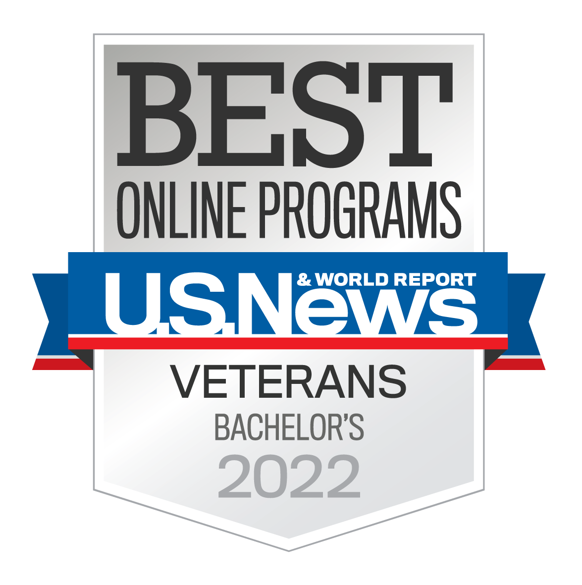 best online bachelors for veterans badge
