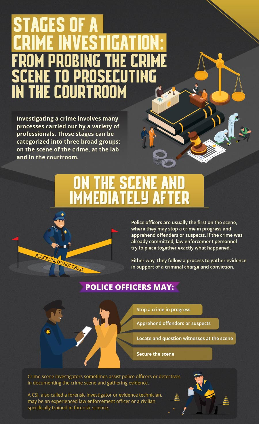 Stages of a Crime Investigation part 1.