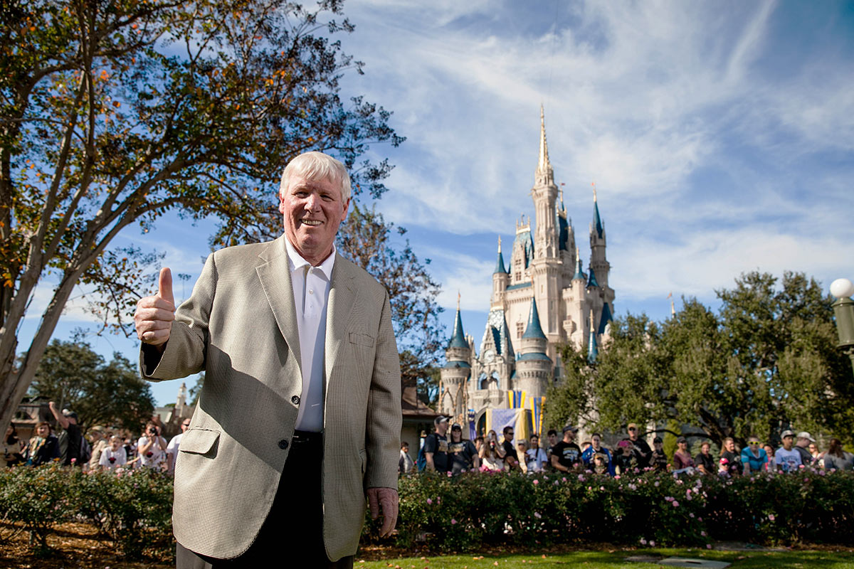 Coach O'Leary at the Magic Kingdom