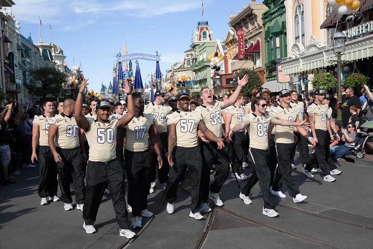Football Team at the Magic Kingdom