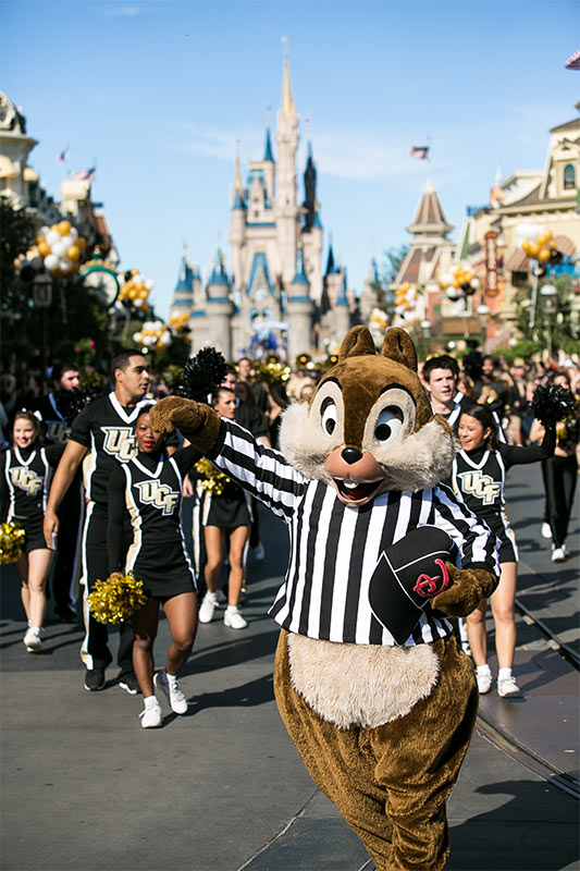 Chip in the parade at Magic Kingdom