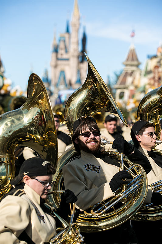 UCF Tuba player at the Magic Kingdom