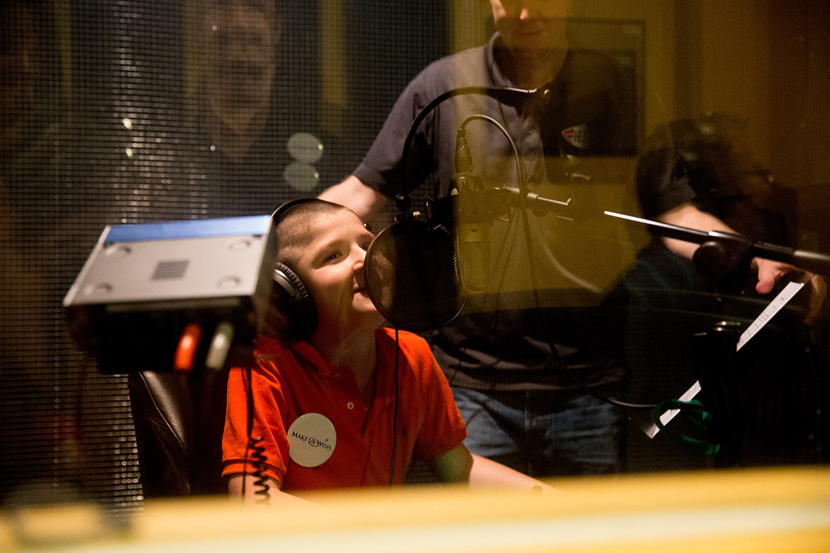 LJ recording his voice for his character