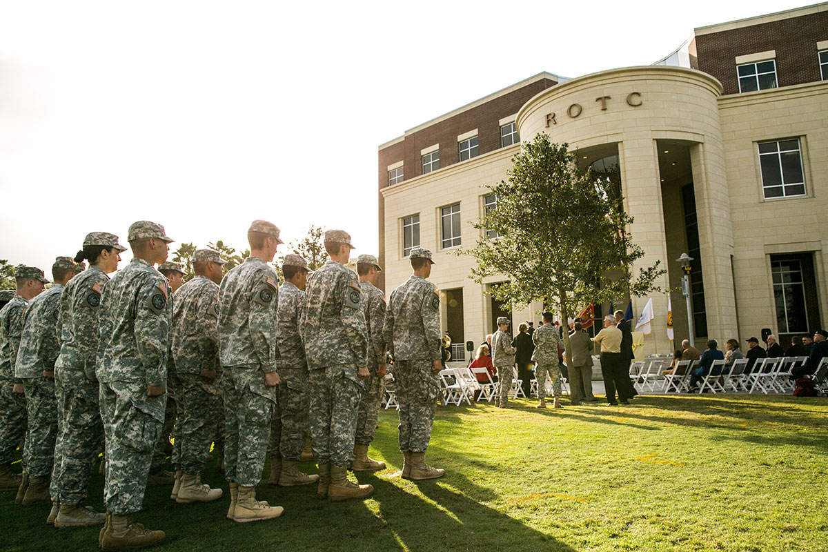 ROTC Students at the Classroom II Opening Ceremony