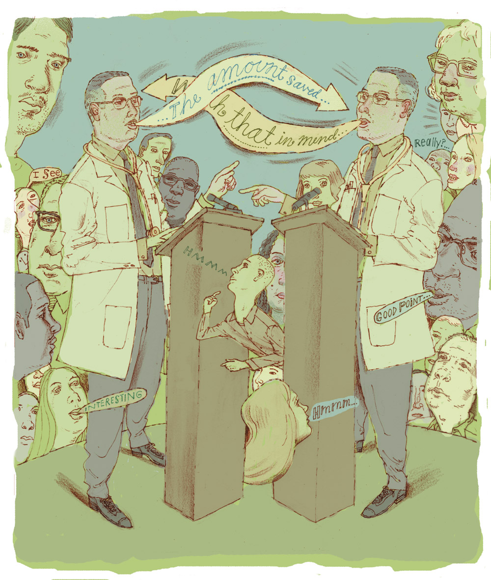 doctor debate illustration