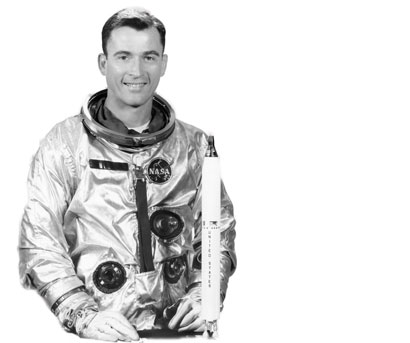 NASA Astronaut John Young in his flight suit
