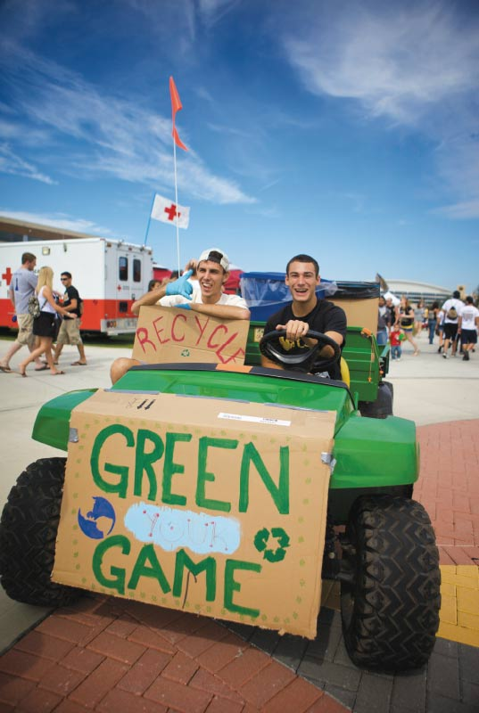 UCF Knights tailgating goes green