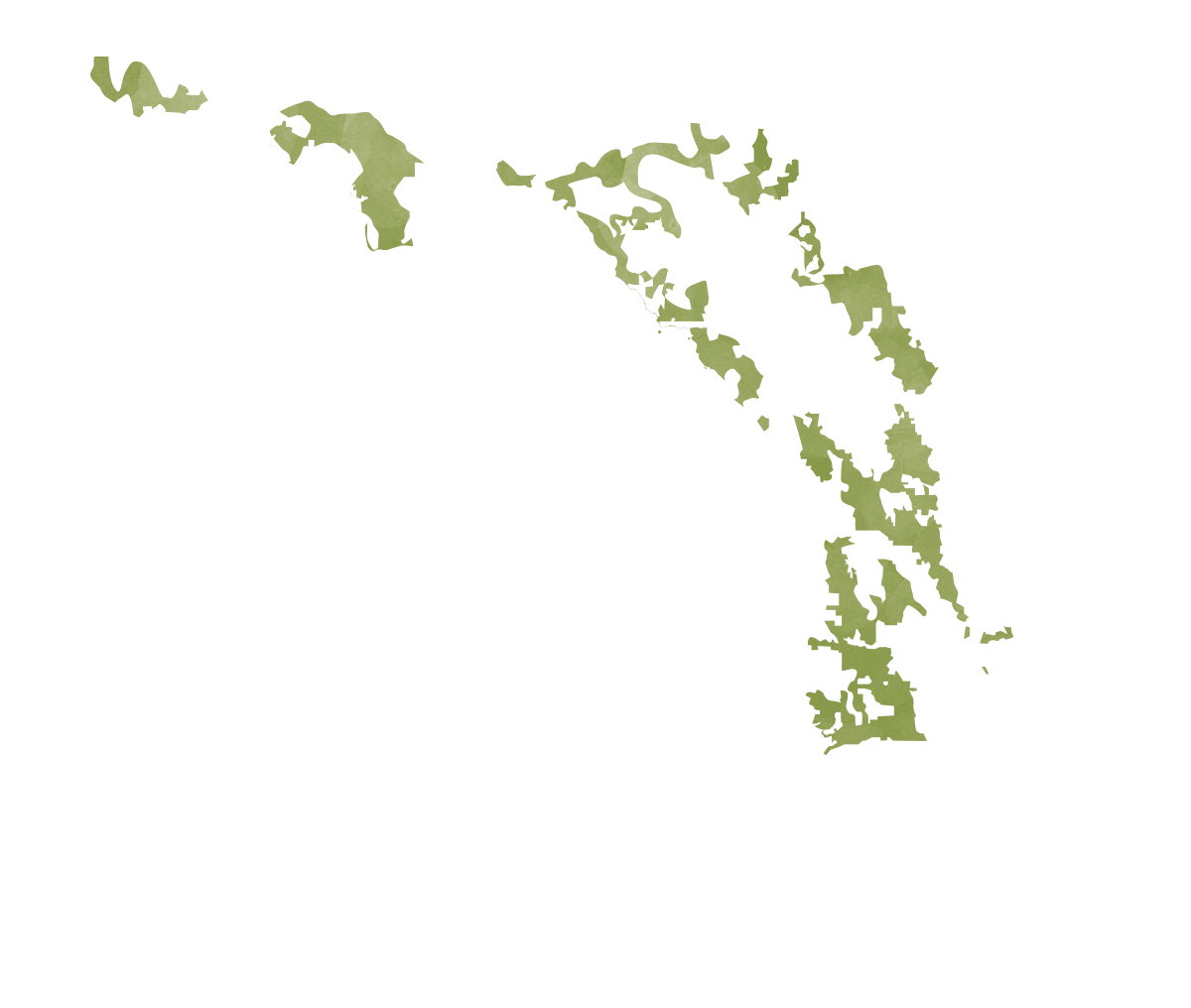 Florida map displaying proposed conservation areas