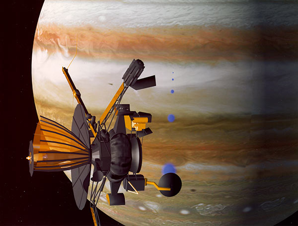 Rendering of Galileo orbiter