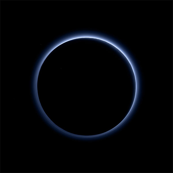 Image of the dark side of Pluto