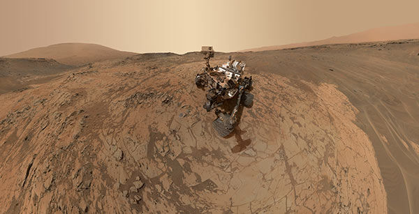 Self-portrait of NASA's Curiosity rover.