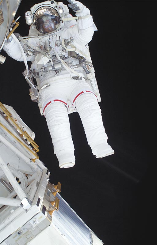 Photo of astronaut in space walk