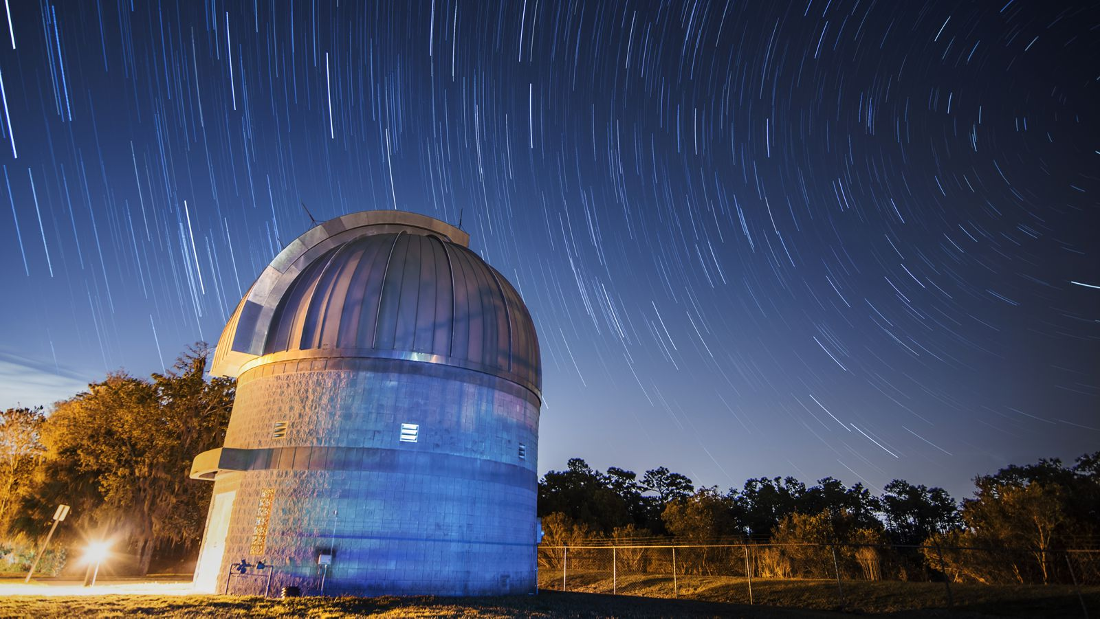 Time lapse photo of the UCF Robinson Observatory